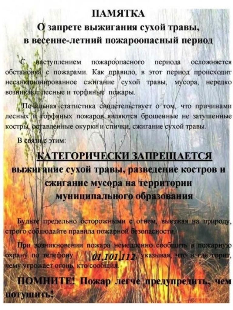 Внимание пожары!