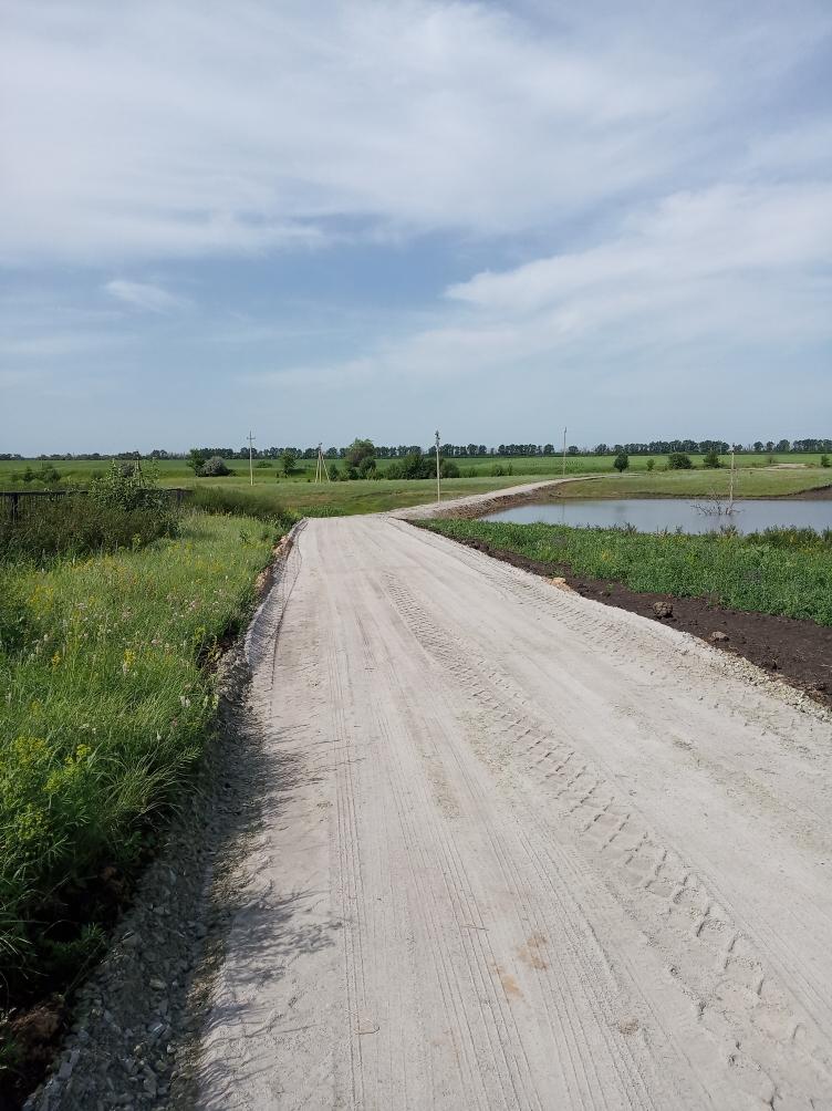 Построена дорога на кладбище п. Участок № 12