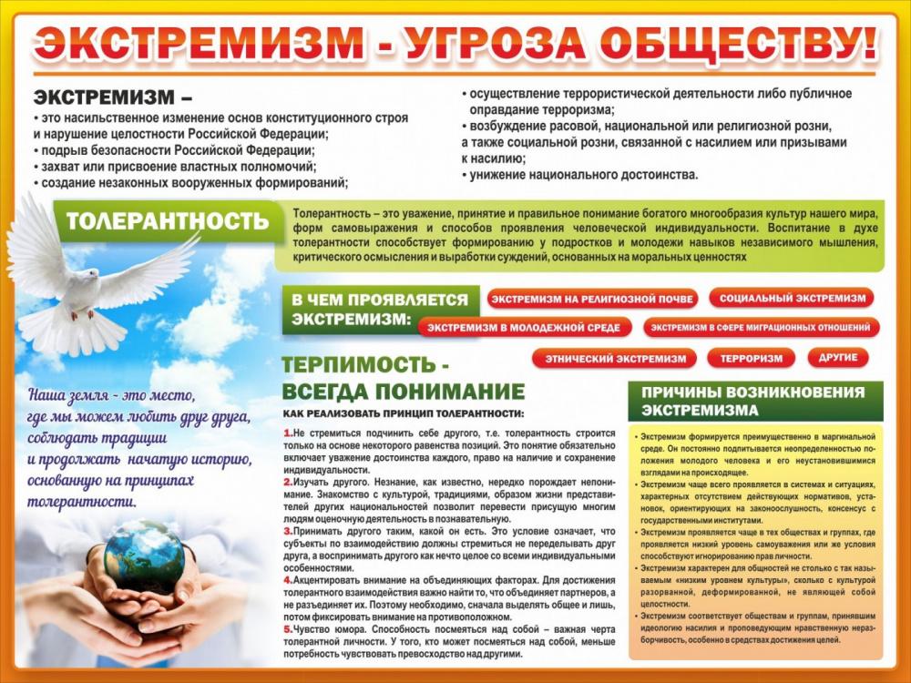 ЭКСТРЕМИЗМ - УГРОЗА ОБЩЕСТВУ!!!