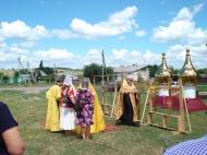 Освящение куполов и крестов