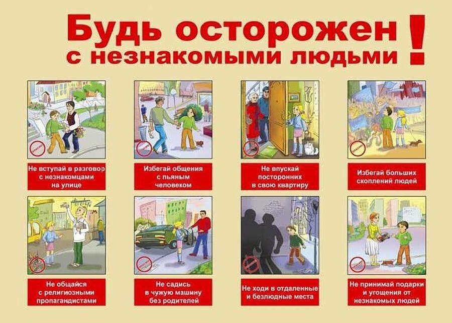Беседа по правилам поведения: «Контакты с незнакомыми людьми на улице», «Если ты потерялся», «Чтобы не случилось беды»