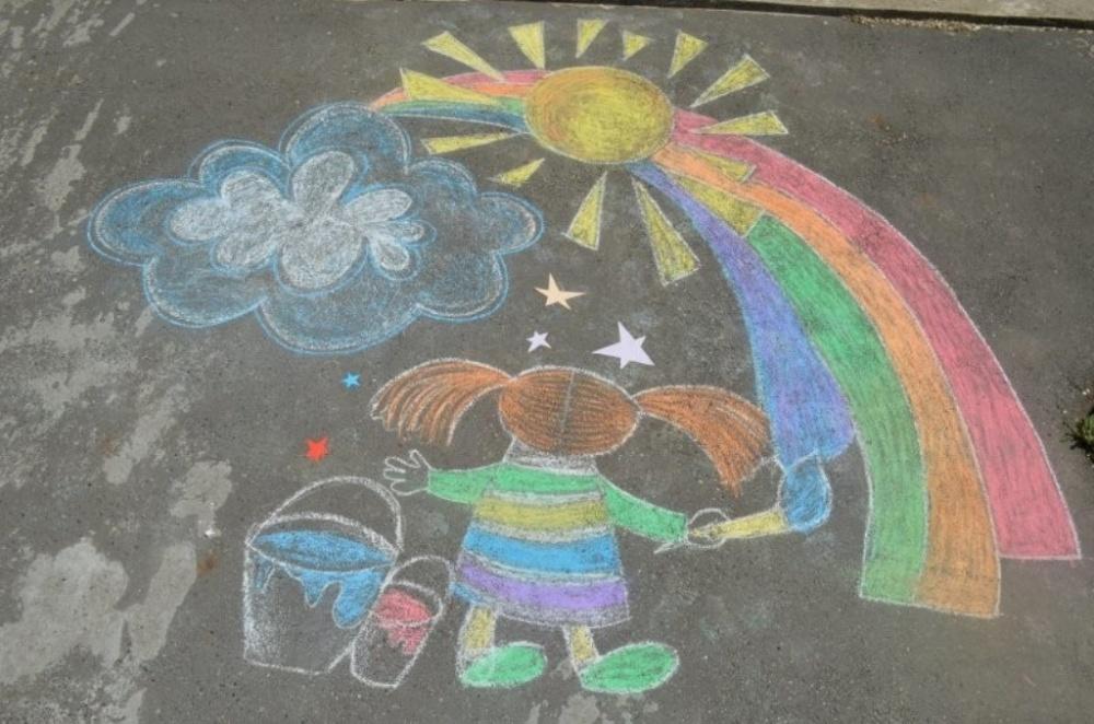 Конкурс рисунков  «Я рисую лето мелом».