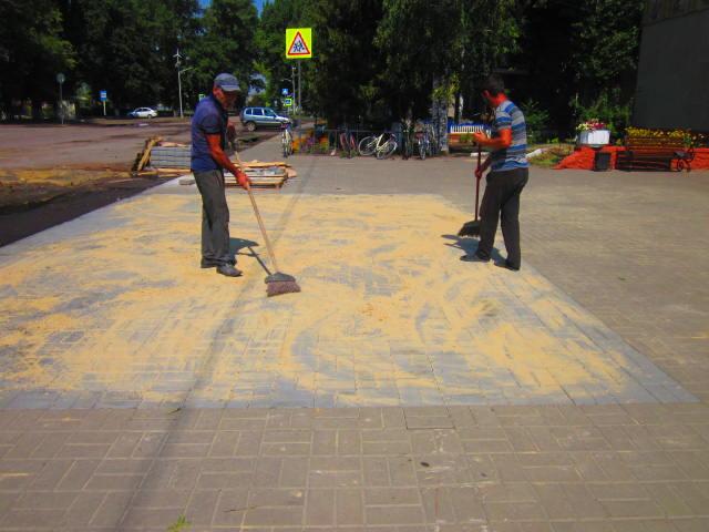 Отремонтировали тротуар