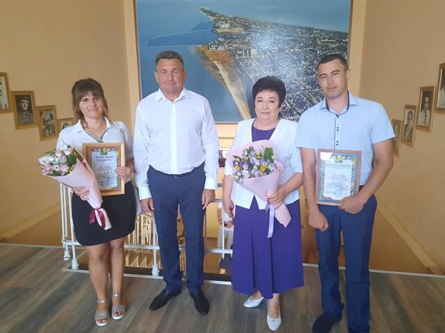 Церемония награждения  в здании администрации МО Ейский район по итогам проведения общероссийского голосования по вопросу одобрения изменений в Конституцию РФ.