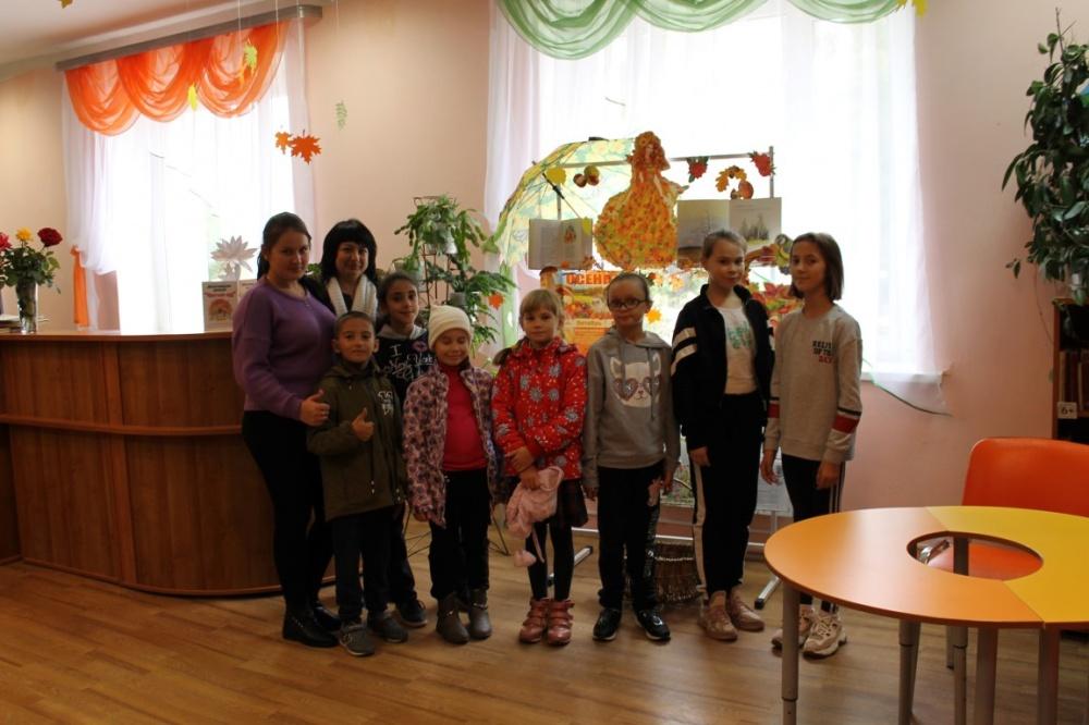 9 октября в детской библиотеке районного Дома культуры дети участвовали в развлекательно-игровой фантазии «Осенний винегрет».