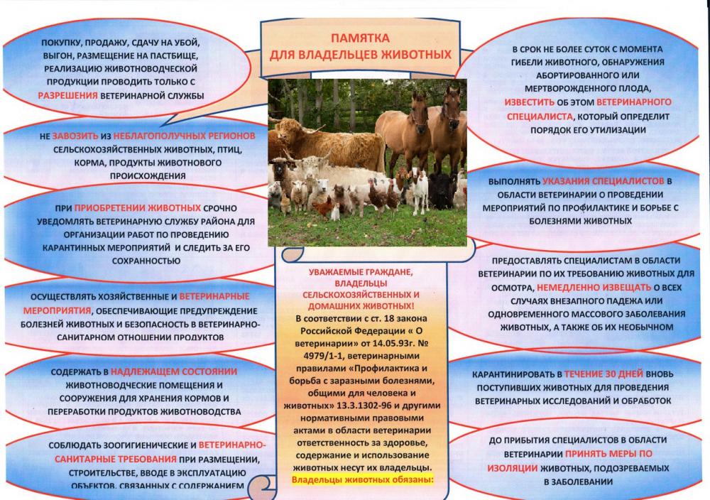 памятка о несанкционированном ввозе скота на территорию Волгоградской области