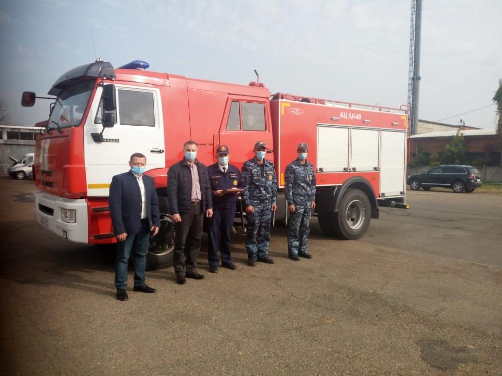 Автопарк пожарной части №7 станицы Камышеватской пополнила новая техника