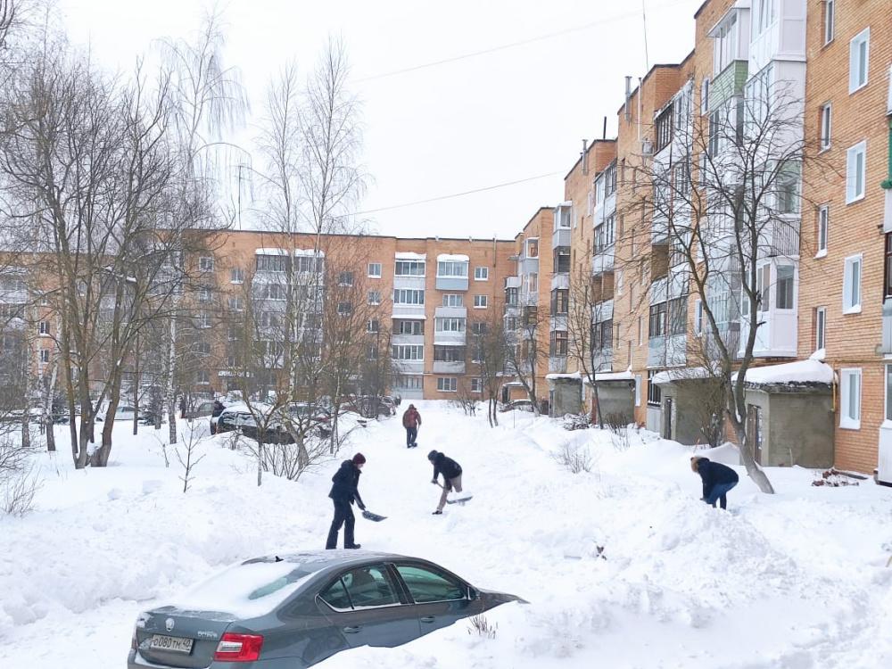 Благодарность всем неравнодушным жителям поселка за помощь в очистке территории поселка от снега