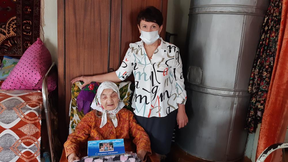 Поздравление с 99-летним юбилеем Сарычевой Анастасии Захаровны