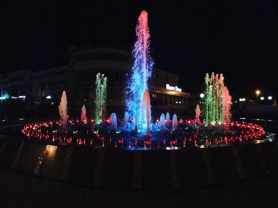 Состоялся технический запуск фонтана в станице Кущевской