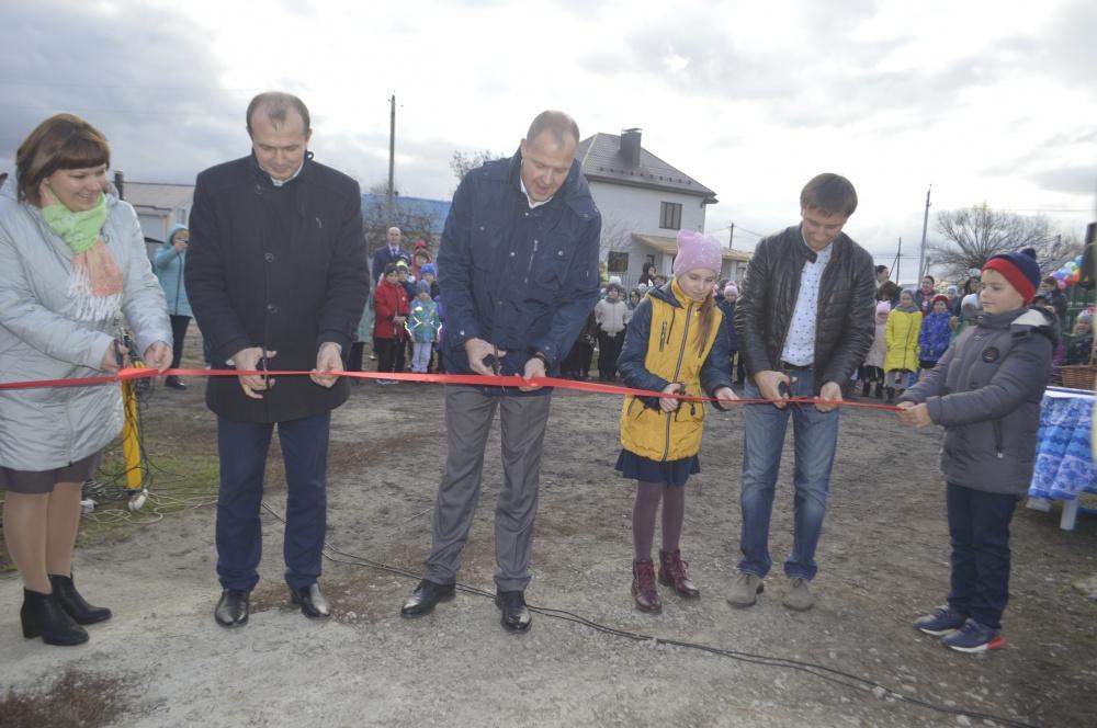 Открытие детской площадки на переулке Северный