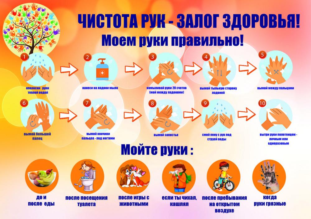 Чистота рук - залог здоровья!