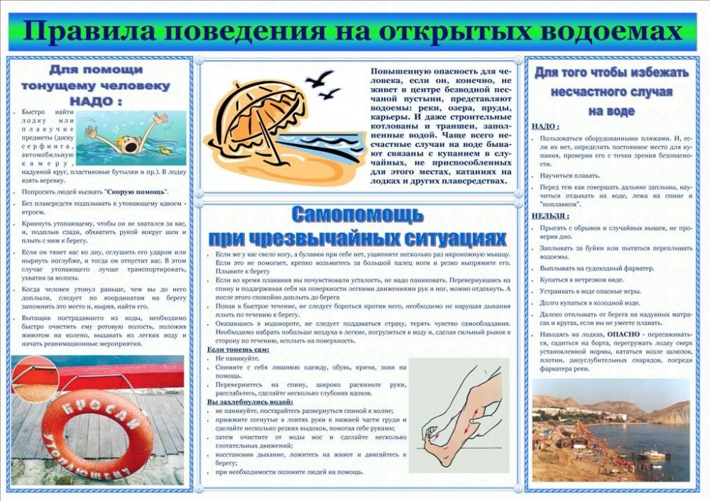 Информация о безопасном поведении на водных объектах