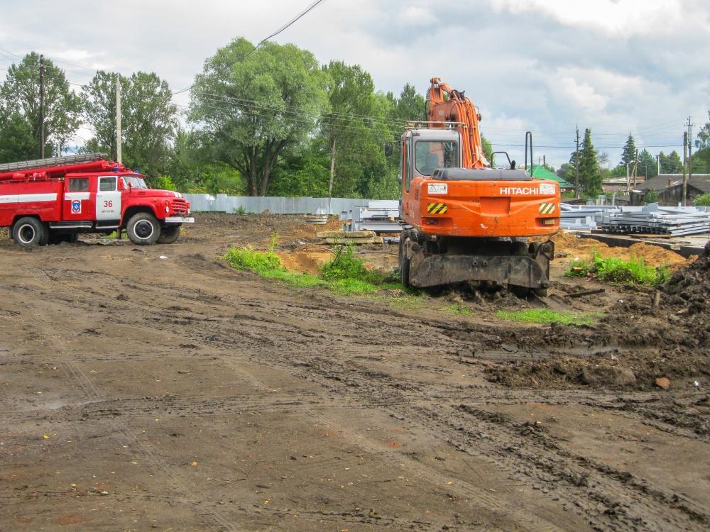 В поселке Мятлево строится новое пожарное депо
