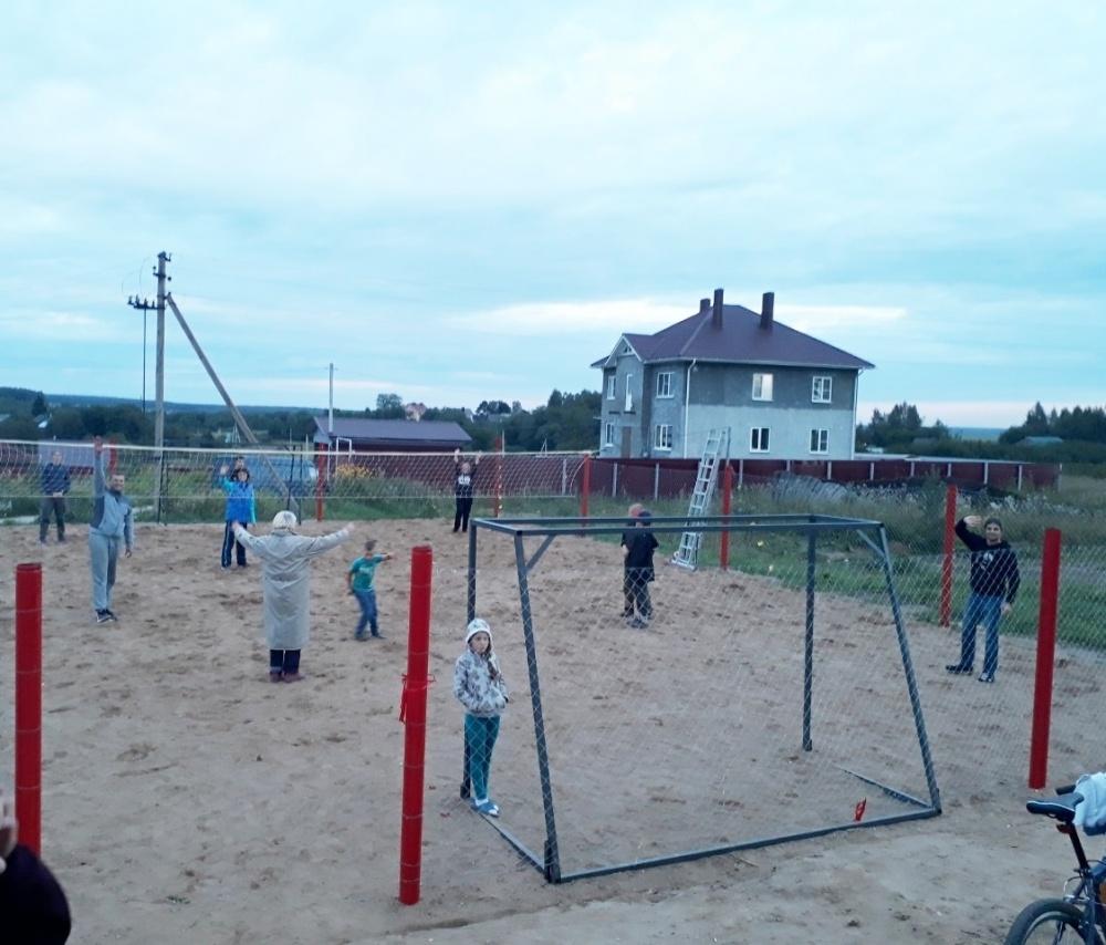 В поселке Губачёво  завершилось строительство спортивной площадки