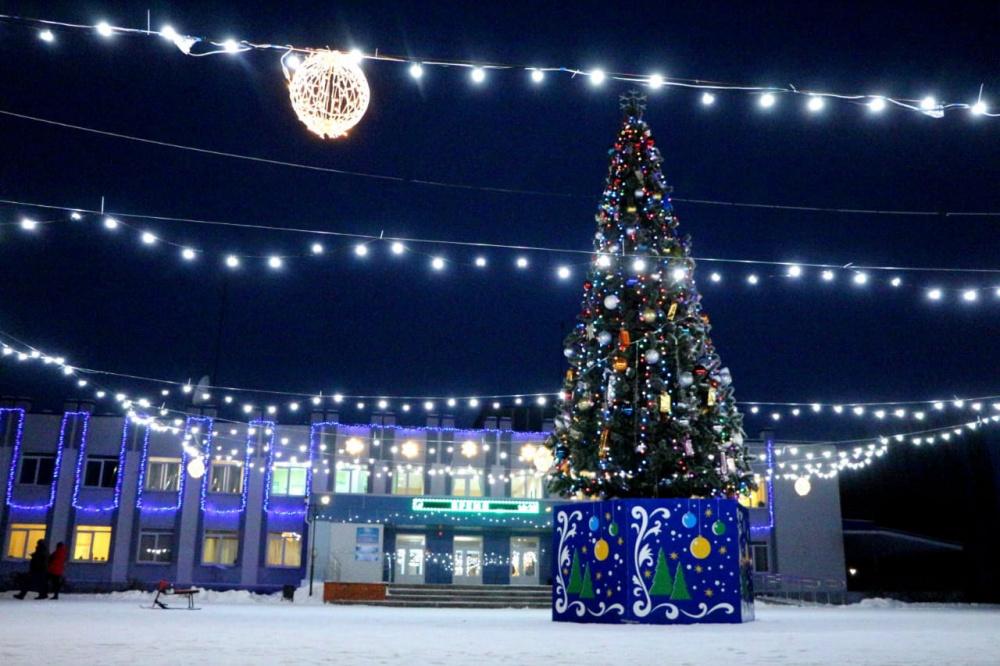 Терновский район украсили к Новому году