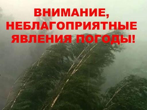 Неблагоприятные явления погоды на территории Оренбургской области на 22.07.2020