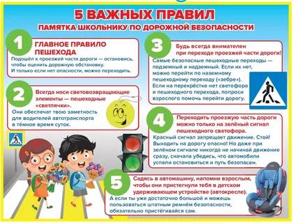 Памятки по дорожной безопасности для детей и их родителей