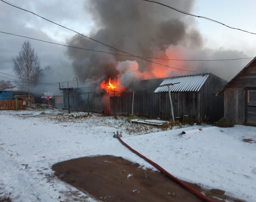 Возгорание хозяйственных построек