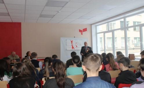 23 января в Каширской средней школе прошёл урок Мужества «Воронеж непокорённый»