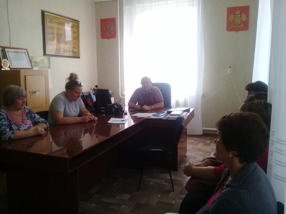 15.08.2019 года в администрации сельского поселения проведено очередное заседание предвыборного штаба