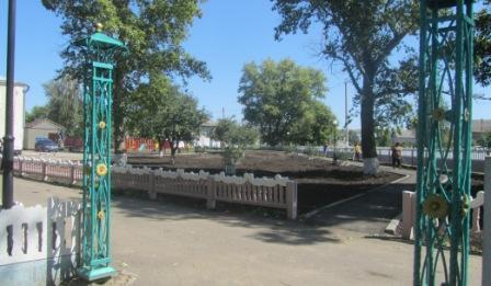 В Воробьевке построен  новый сквер