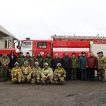 Торжественное открытие бокса для новой машины в ПЧ 74 села Новая Чигла