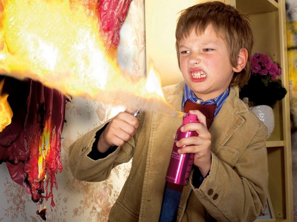 Детская шалость с огнем