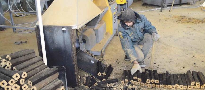 В Терновке начали производить евродрова