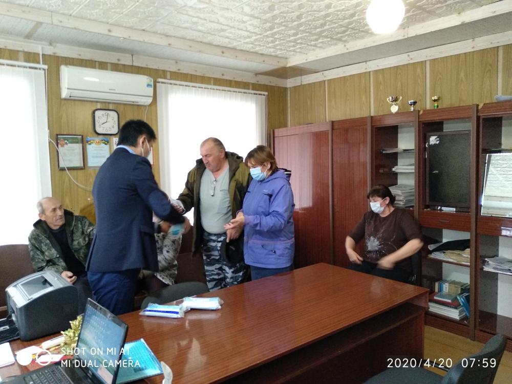 Выдача средств индивидуальной защиты в администрации ЛСМО РК
