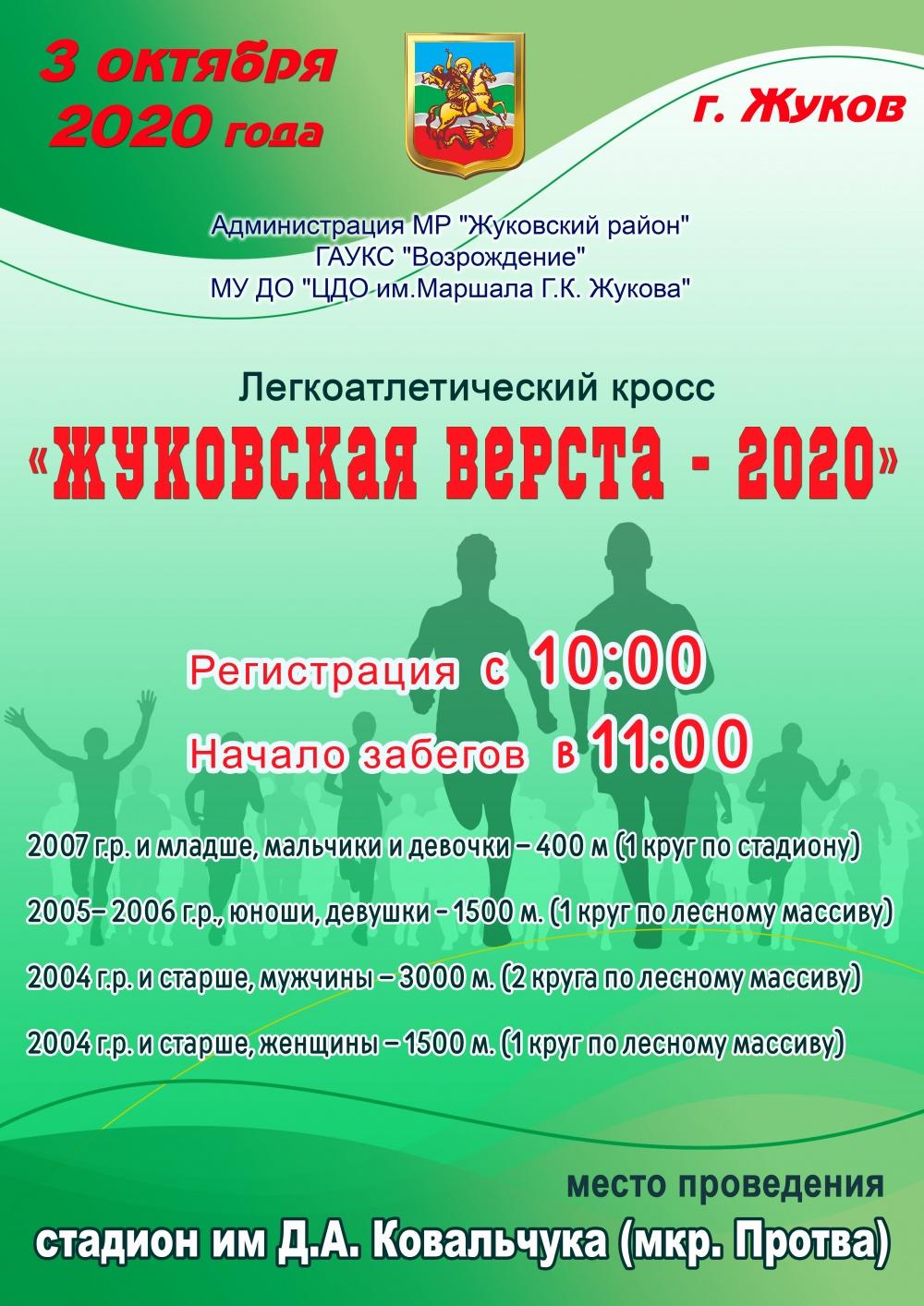 Жуковская верста - 2020г