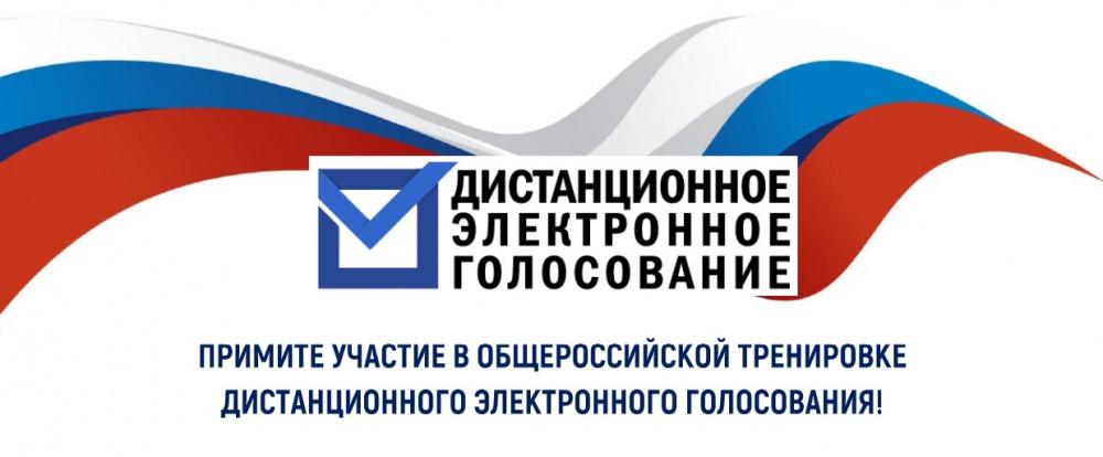 Приглашаем принять участие в общероссийской тренировке по проведению дистанционного электронного голосования
