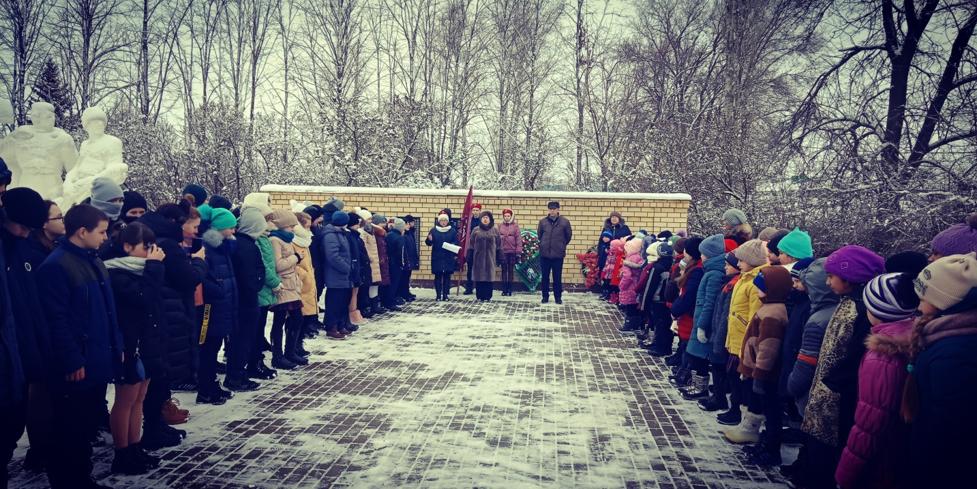 Митинг, посвященный освобождению Лискинской земли от немецко-фашистских оккупантов.