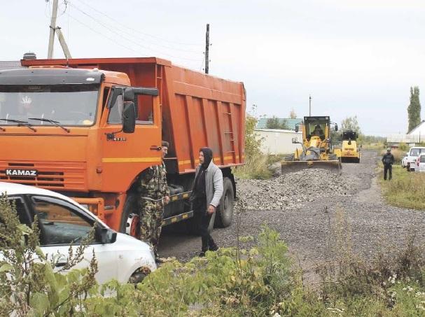 В райцентре отремонтировали около километра дорог