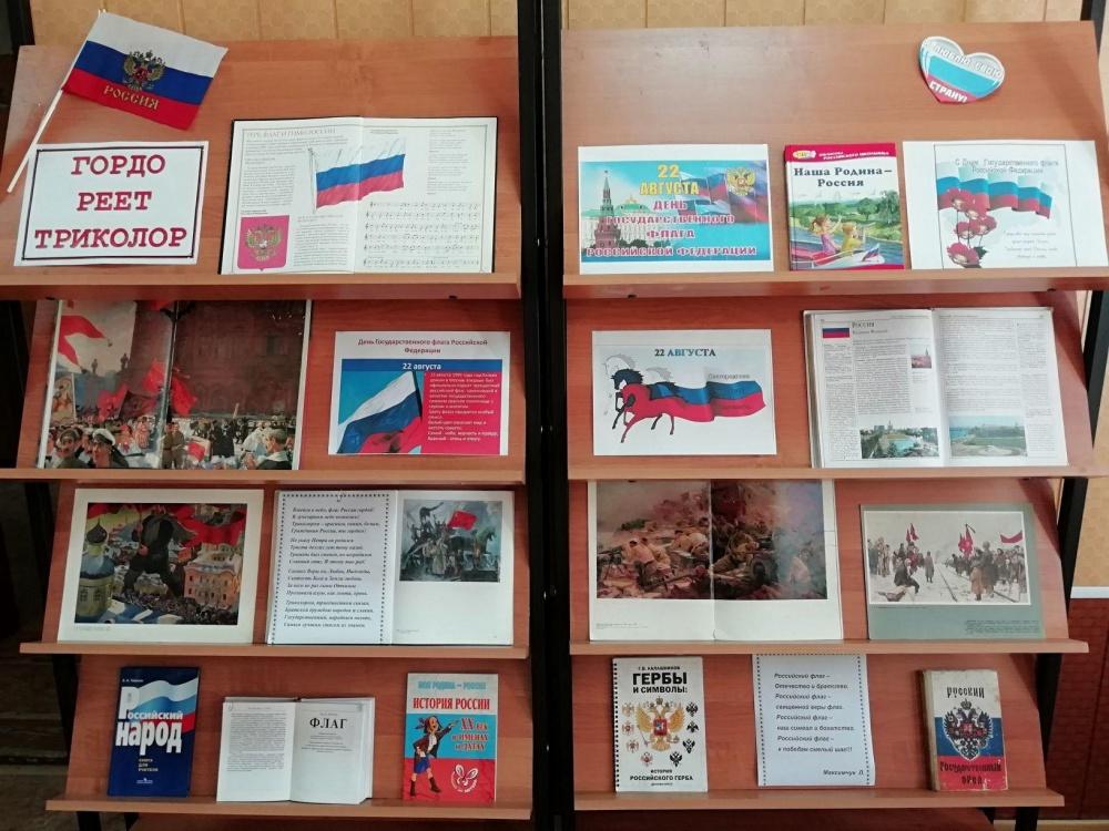 Книжная выставка — просмотр «ГОРДО РЕЕТ ТРИКОЛОР».