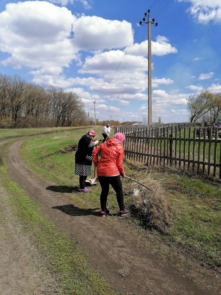 Уборка территории кладбища п.Козловский