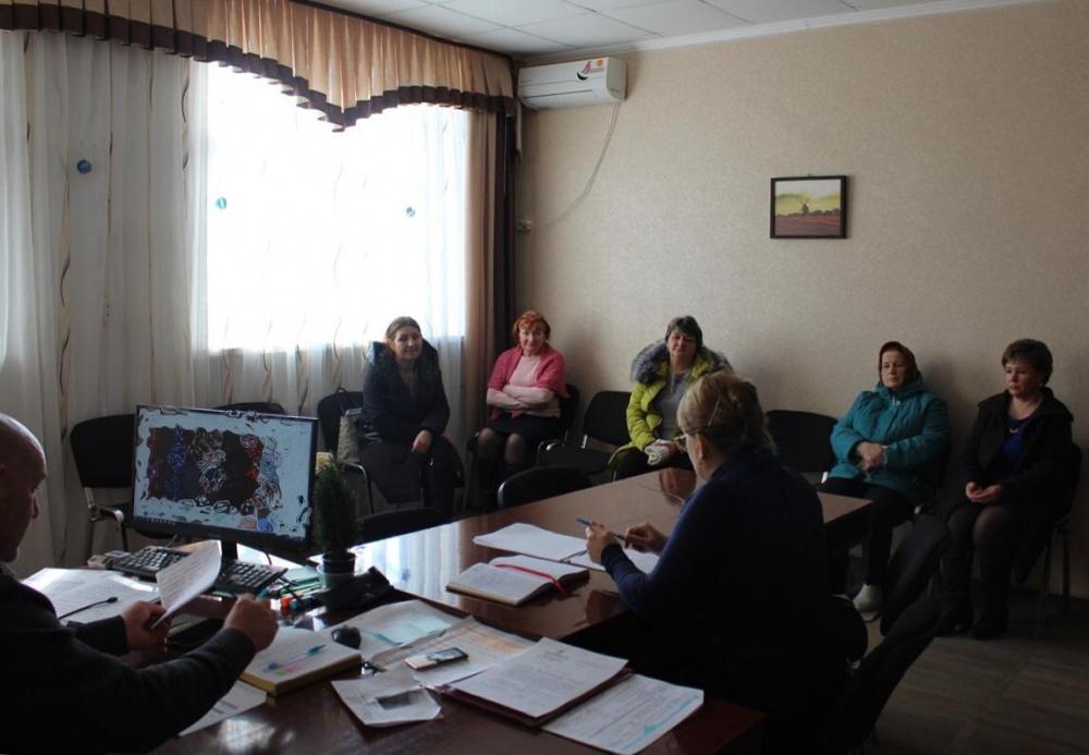 Рабочая встреча главы Камышеватского сельского поселения с председателями ТОС