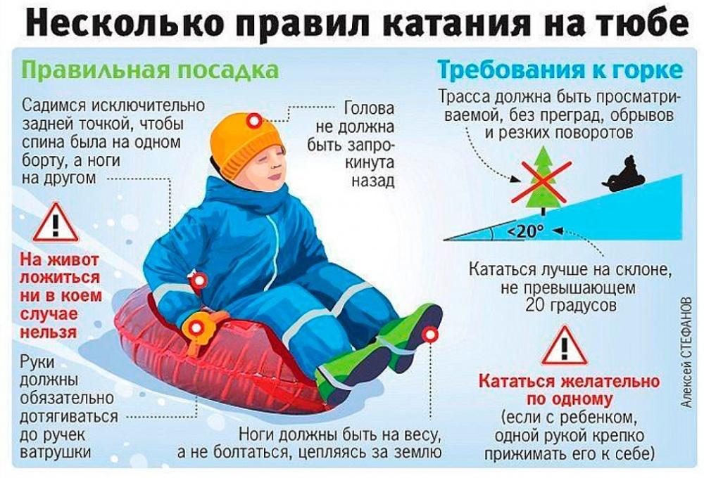 Правила катания на тюбинге