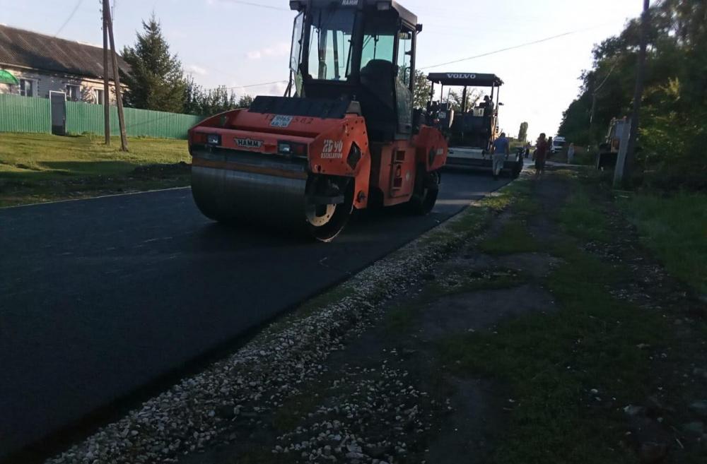 Завершены работы по ремонту автодороги