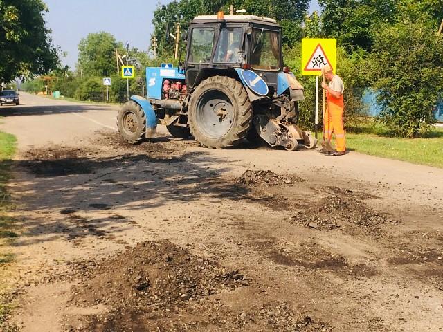 продолжается плановый ремонт дорог