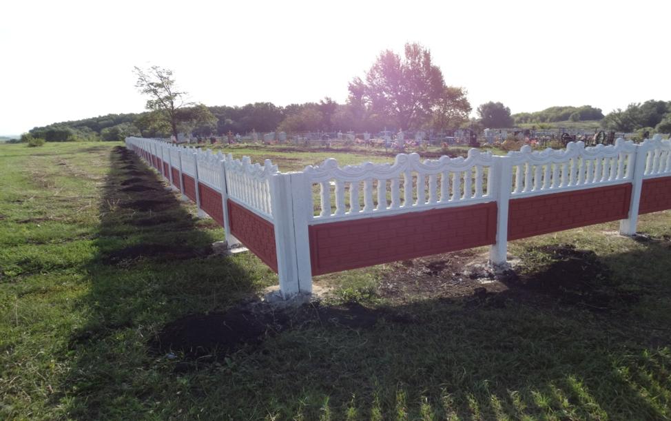 Участники ТОС «Нижнемазовское» произвели ограждение кладбища в селе Нижняя Маза Верхнемазовского сельского поселения
