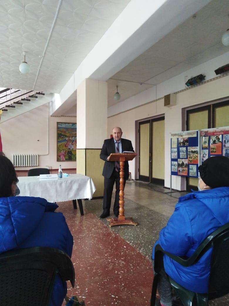 Открытая сессия Совета Глебовского сельского поселения Кущевского района