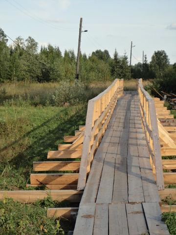пешеходный мостик через р. Белая