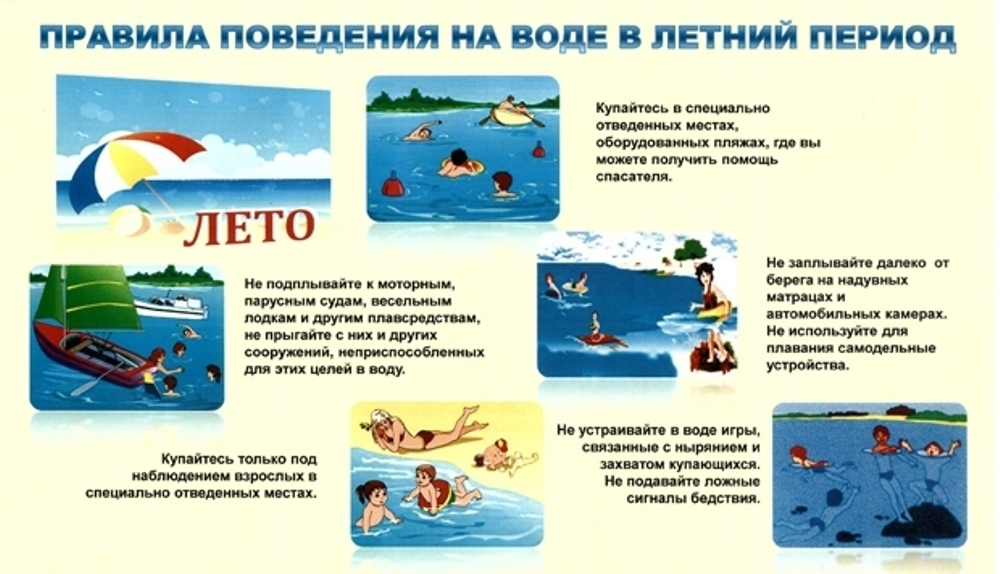 ПОМНИТЕ! Обязательное соблюдение всех правил поведения на воде (купальный сезон) – залог сохранения здоровья и спасения жизни многих людей!