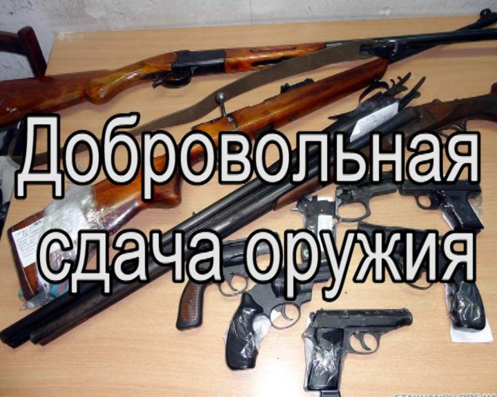 Об осуществлении выплаты денежного вознаграждения гражданам за добровольную сдачу незаконно хранящегося у них оружия