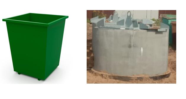 Объявление об использовании контейнера для ТКО