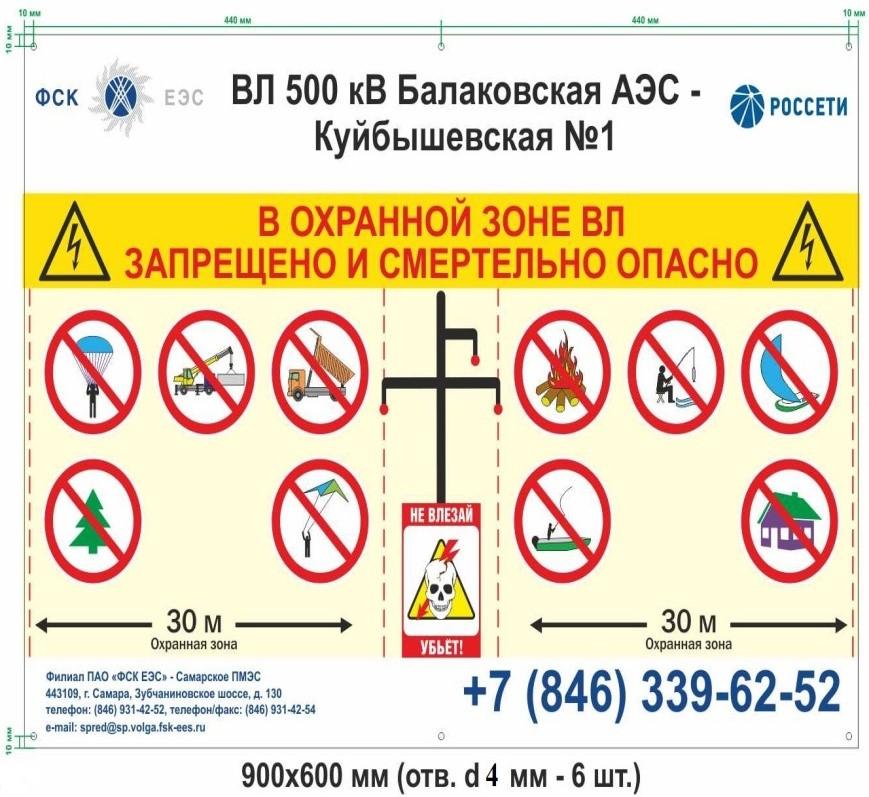 Памятка о необходимости соблюдения требований особых условий использования земельных участков, расположенных в пределах охранных зон воздушных линий электропередачи  напряжением 220/500кВ