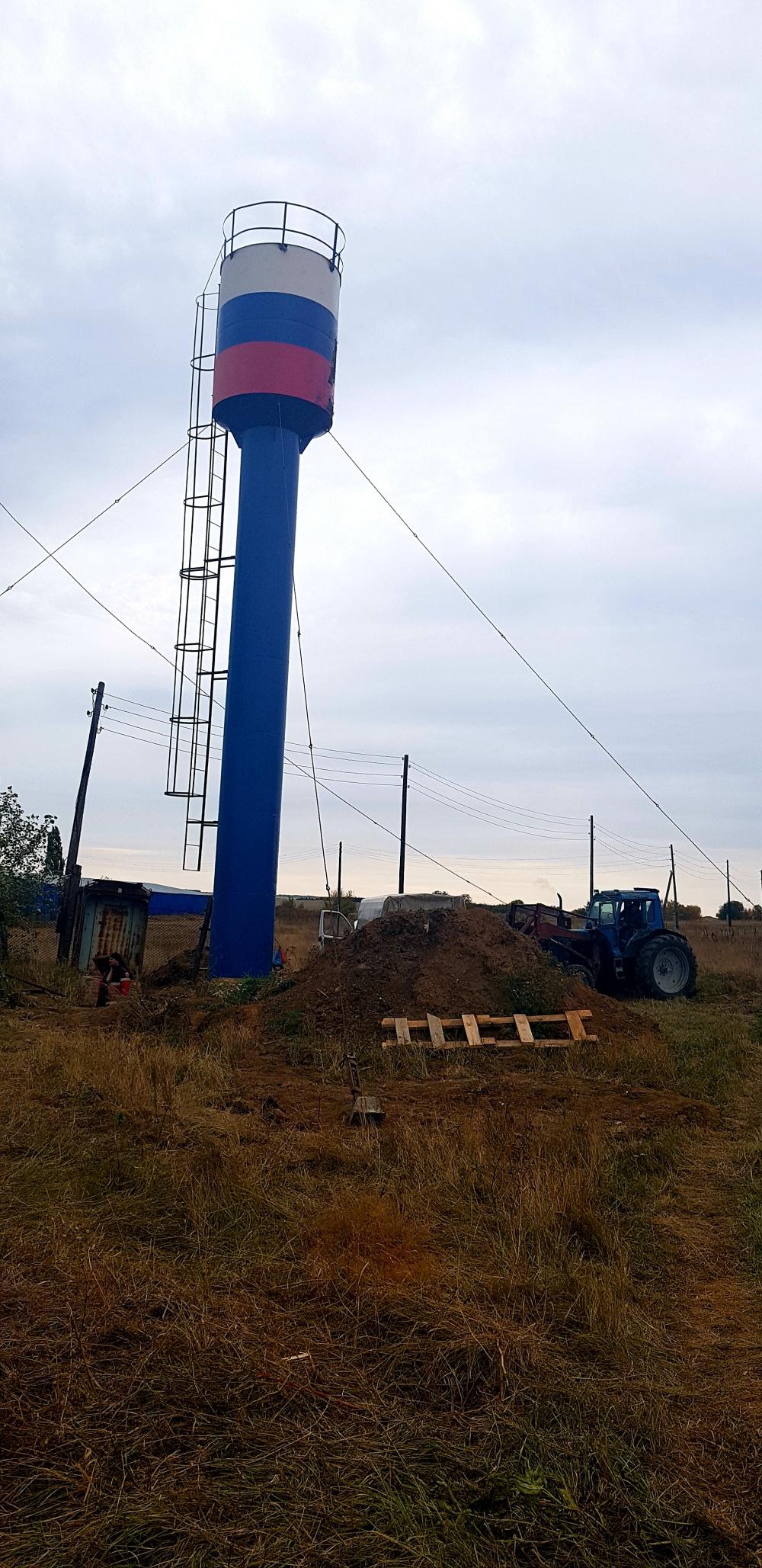 В с.Пыховка установлена новая водонапорная башня Рожновского!!!