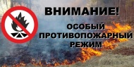 Внимание!  С 30 апреля на территории Воронежской области установлен особый противопожарный режим.