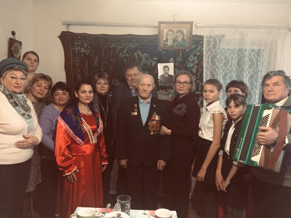 Поздравили ветерана Великой Отечественной войны